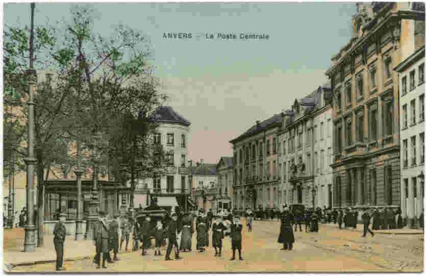 De groenplaats aan de centrale post : Antwerpen10.