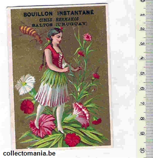 Chromo Trade Card CIB_1_4_3 ANTHROPOMORPH GIRL ASL A FLOWER