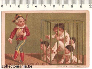Chromo Trade Card GUE_BV_31 PIERROT ET POLICHINELLE