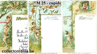 Chromo Trade Card M25 Cherubs and Suitors