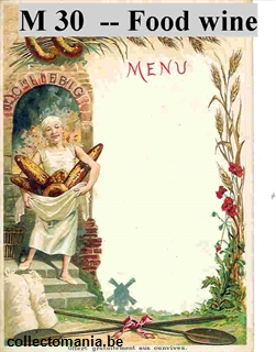 Chromo Trade Card M30 Thoughts of Food and Wine