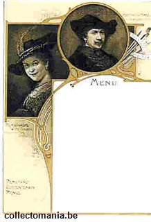 Chromo Trade Card M71 Rembrandt Tercentenary Menus